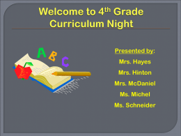 Curriculum Night - Henry County Schools