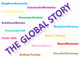 Stephen/Australia  Cerassela/Romania Jenny/Australia Susanne/Austria Svetlana/Russia Melahrini/Greece Parminder/UK Beata/ Poland  Todd/ USA  Montse/Spain  Gülhan/Turkey  Dana/Romania Claudia/Germany   Madison  Justin  Madison´s talent is gymnastics  Justin is a shark tagger  Joey  Selena  Selena is a Hula Dancer  Joey is the president´s son   Holland Tunnel  Backpacks  Jet packs Statue of Liberty They.