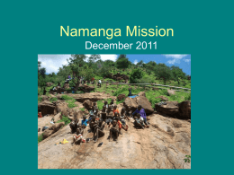 Namanga Mission December 2011 School year has ended… Our children received their results.