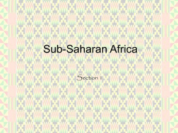 Sub-Saharan Africa Section 1   Standard 7.4.1 • Study the Niger River and the relationship of vegetation zones of forest, savannah, and desert to trade in.