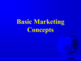 Basic Marketing Concepts   Unit Essential Question What is Hospitality Marketing?   Essential Question 1  What functions are involved in the marketing process?   Marketing is.