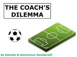 THE COACH'S DILEMMA  by Daniele & Gianfranco Gambarelli   Group D FIRST DAY: June 14th Costa Rica Italy  Uruguay England  3-1 2-1   Group D COSTA RICA  ITALY  ENGLAND  URUGUAY   NEXT MATCH Italy  Costa Rica vs   Costa Rica  Italy  Cesare Prandelli  Jorge Luis Pinto   THE FORECASTS   THE FORECASTS % ITA win.  % draw  ,