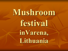 Mushroom festival inVarena, Lithuania        As the capital of forests and mushrooms, the city of Varena attracts locals and tourists to the annual Mushroom Festival, which takes.