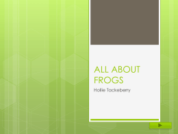 ALL ABOUT FROGS Hollie Tackeberry    GRADE:  4th  Subject: Science  Summary: The purpose of this lesson is to learn the life cycle of a frog.