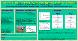 Nitrous oxide emission from dairy cow slurry applied to an Andisol grass field K.