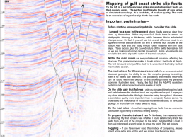 A  Mapping of gulf coast strike slip faults To the left is a set of associated strike slip and adjustment faults on the.