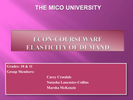 THE MICO UNIVERSITY  Grades: 10 & 11 Group Members:  Carey Crosdale Natasha Lancaster-Collins Marsha McKenzie.