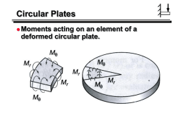 Circular plate with central piston