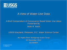 A View of Water Use Data
