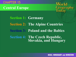 World Geography Powerpoint Chapter 15