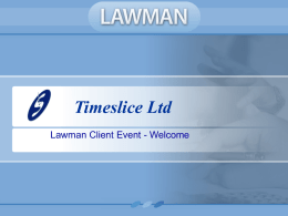 Lawman Client Eventx