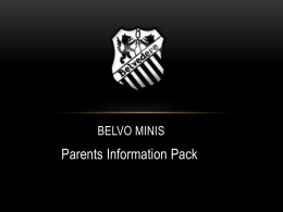 Belvo Minis Parent information packx