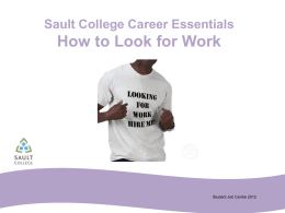 How to Look for Work