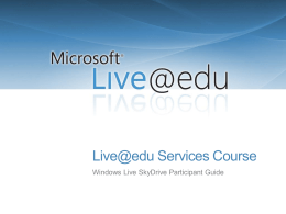 Live@edu Services Course