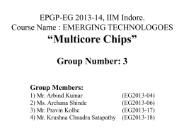 Multicore Chips