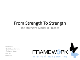 The Strengths Model Presentation