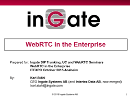 WebRTC in the Enterprise