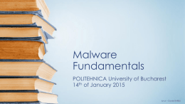 Malware Fundamentals Workshop