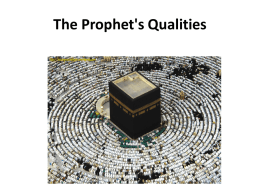 S 4, The Qualites of Prophet Muhammad (pbuh)