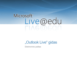 """Outlook Live"" gidas"