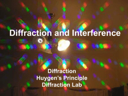 Diffraction and Interference  Diffraction Huygen's Principle Diffraction Lab Light Has wave properties. Can diffract. Can constructively or destructively interfere.