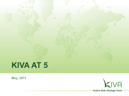 KIVA AT 5 May, 2011 \ Capitalism takes a narrow view of human nature, assuming that people are onedimensional beings concerned only with the pursuit of.