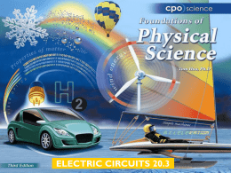ELECTRIC CIRCUITS 20.3 Chapter Twenty: Electric Circuits 20.1 Charge 20.2 Electric Circuits 20.3 Current and Voltage 20.4 Resistance and Ohm's Law.