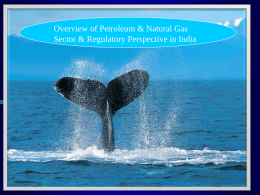 Overview of Petroleum & Natural Gas Sector & Regulatory Perspective in India.