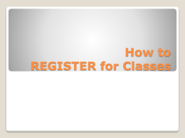 "How to REGISTER for Classes On the main UTC webpage, www.utc.edu, click the ""My MocsNet"" link located near the top right-hand corner of."