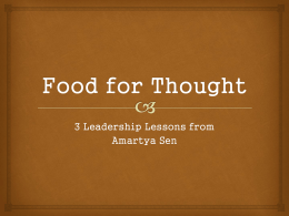 "3 Leadership Lessons from Amartya Sen   ""We spend billions of dollars trying to understand the origins of the universe, while we."