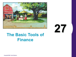 The Basic Tools of Finance  Copyright©2004 South-Western Figure 1 The Utility Function  Copyright©2004 South-Western.