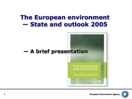 The European environment — State and outlook 2005  — A brief presentation.