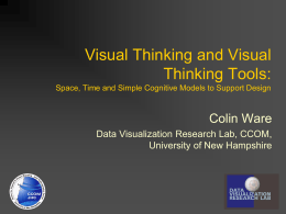 Visual Thinking and Visual Thinking Tools: Space, Time and Simple Cognitive Models to Support Design  Colin Ware Data Visualization Research Lab, CCOM, University of New.