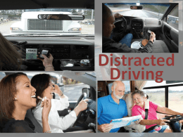 Distraction Distraction Any activity that diverts your attention from the task at hand. Distracted Driving Distracted Driving is operating a motor vehicle while allowing anything to take your attention.