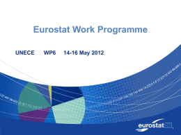 Eurostat Work Programme UNECE  WP6  14-16 May 2012 Content   Eurostat organisation chart as from 1 of January 2012  Work Programme 2012  Preparation of.