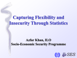 Capturing Flexibility and Insecurity Through Statistics  Azfar Khan, ILO Socio-Economic Security Programme Instruments 1.