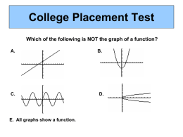 College Placement Test Which of the following is NOT the graph of a function? A.  C.  E.