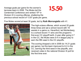 Average goals per game for the women's lacrosse team in 2008.