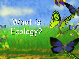 What is Ecology? Organisms and Their Environment What is Ecology?? • The study of interactions that take place between organisms and their environment. • It explains how.