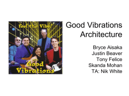 Good Vibrations Architecture Bryce Aisaka Justin Beaver Tony Felice Skanda Mohan TA: Nik White Status Update • Concept - A silent, portable, comfortable, battery-operated, phone activated, vibrating pillow cover. •