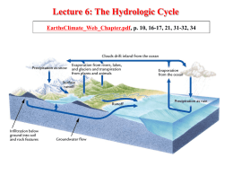 Lecture 6: The Hydrologic Cycle EarthsClimate_Web_Chapter.pdf, p. 10, 16-17, 21, 31-32, 34