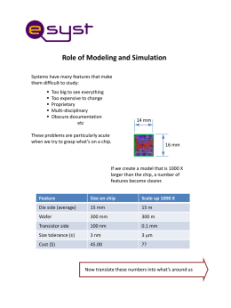 Role of Modeling and Simulation Systems have many features that make them difficult to study:       Too big to see everything Too expensive to change Proprietary Multi-disciplinary Obscure.