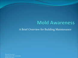 A Brief Overview for Building Maintenance  Rowan University Department of Environmental Health and Safety.