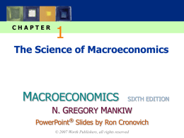 CHAPTER  The Science of Macroeconomics  MACROECONOMICS  SIXTH EDITION  N. GREGORY MANKIW PowerPoint® Slides by Ron Cronovich © 2007 Worth Publishers, all rights reserved.