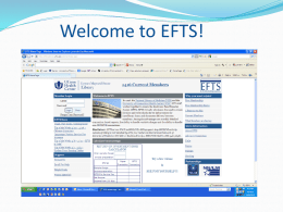 "Welcome to EFTS! Start by clicking ""Free Membership"" Fill out online application form, click ""Apply"""