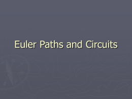 Euler Paths and Circuits The original problem A resident of Konigsberg wrote to Leonard Euler saying that a popular pastime for couples was.