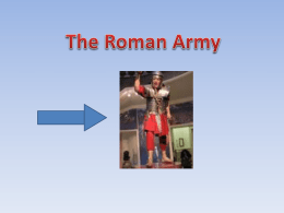 A roman centurion would wear his sword on the left and his dagger on the right. And he would hold his.