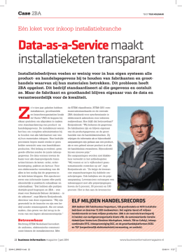 Data-as-a-Servicemaakt installatieketen transparant