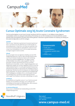 MED_factsheet_Cursus Optimale zorg bij Acute