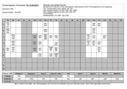 Vertretungsplan /Sonderplan: Do. 26.03.2015